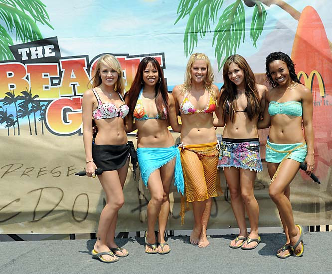 The Beach Girlz before their musical performance.