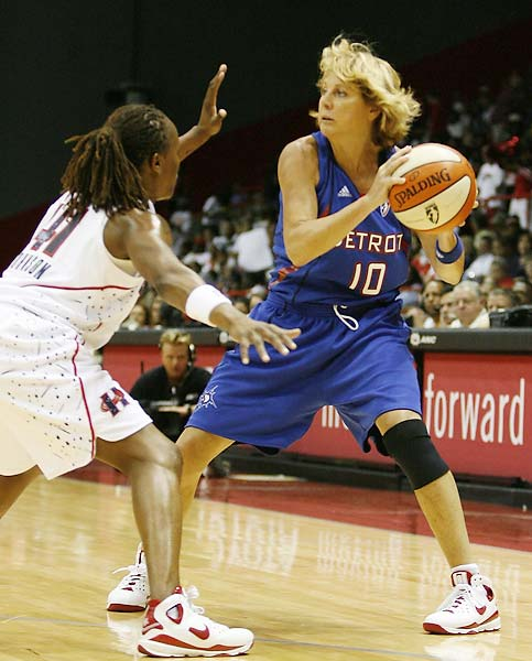 As suspensions and injuries left the Shock shorthanded, 50-year-old Nancy Lieberman signed a seven-day contract to play for Detroit.