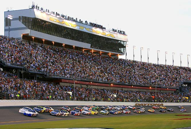 NASCAR was founded in Daytona and the first series race was held at the track in 1959. Since then, the 168,000-seat speedway has remained the center of the racing world by giving racing fans every type of event they could desire to see, from go-karts and motorcycles to sports cars and modified pickups.