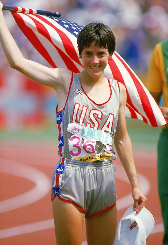 With the addition of the women's marathon to the Olympics in 1984, Benoit Samuelson became the event's first champion in a time of 2:24:52. She did so despite running in the warm, smoggy Los Angeles weather and having had arthroscopic knee surgery earlier that year.  In 1985, she set a women's American record of 2:21:21 in the Chicago marathon that stood for 18 years. <br><br>Worthy of consideration: Cindy Blodgett.