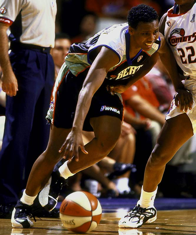 Robinson was a nine-year fixture in the WNBA before becoming an assistant coach of the Washington Mystics.  At Southeast Oklahoma State, she still holds the records for points, rebounds, assists and steals.