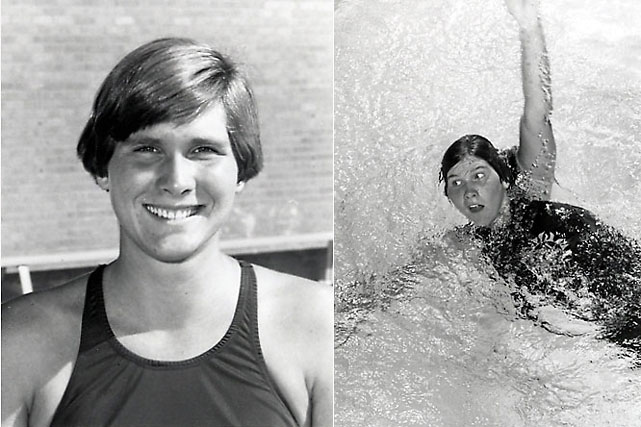 Sixteen at the 1972 Games in Munich, Ripley won three golds (100- and 200-meter backstroke, one with the relay team), setting a world record in the 200 and an Olympic record in the 100.
