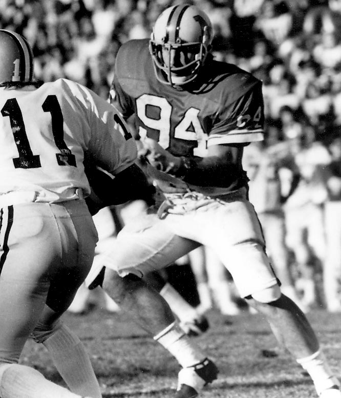 One of the quickest defensive linemen to ever take the field, White's was a natural talent. In 1974, he earned a host of honors: the Outland and Lombardi trophies, ACC Player of the Year, first-team All-America, Delaware (his home state) Athlete of the Year and Philadelphia Sportswriters Association Amateur Athlete of the Year. He has been inducted into both the National Football Foundation and Pro Football Halls of Fame.