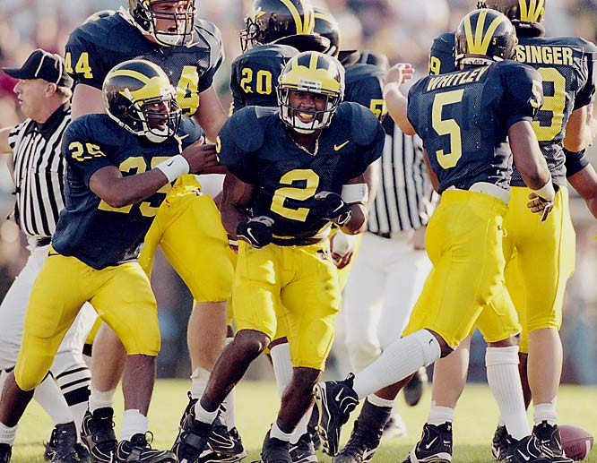 As a junior in 1997, two-time All-America defensive back Charles Woodson became the first and only defensive player to win the Heisman trophy, beating out Tennessee quarterback Peyton Manning. Along with winning the Heisman and breaking the school record for pass break ups with 15, Woodson also won the Bronko Nagurski Trophy (best defensive college player), Jim Thorpe Award, Walter Camp Award, Big Ten Player of the Year award and led the Wolverines to a national championship.
