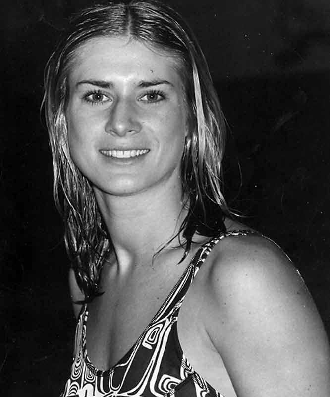 An Olympian before even reaching college, Corcione is regarded as Princeton's first great female athlete. Corcione, who swam in the 1968 games in Mexico City, was a member of the university's first women's squad that competed in the Eastern Women's Swimming League after Princeton became coeducational in 1969. As a Tiger, she set national records in both the 100-yard butterfly and 100-yard freestyle. In 1973, with her fellow pioneer teammates Carol Brown ('75), Barb Franks ('76) and Jane Freeman ('75), Corcione won the 200-yard freestyle relay, setring yet another world record.