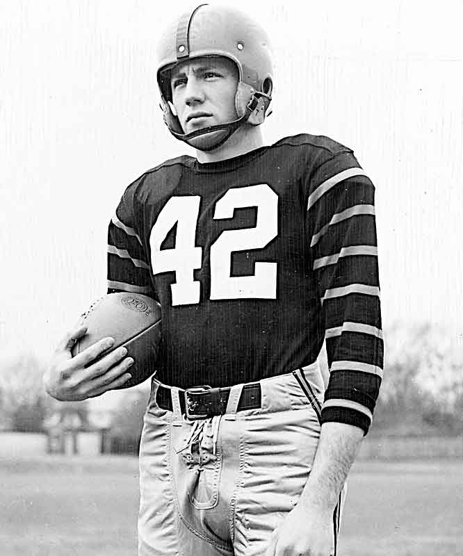 Kazmaier's 1951 season was one of the finest ever by a Princeton athlete. Against then-undefeated Cornell, the tailback scored five touchdowns (three pass, two run) and piled up 360 yards of total offense en route to a 53-15 Princeton win. The rout was just one of that season's many highlight reels for Kazmaier, who that year won Princeton's first (and only) Heisman trophy.
