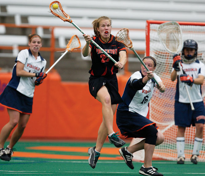 The 2004-05 recipient of Princeton's top athletic award, Pillon, a naturally gifted athlete, was a two-sport Tiger during her collegiate days, playing both lacrosse and soccer (the former being her true passion). On the lacrosse field, she recorded an impressive 104 goals and 150 points. In both her junior and senior seasons, Pillion was named first-team All-America. Now, she is a member of the U.S. touring team, which won the Prague Cup this past June, and a volunteer assistant coach at Princeton.