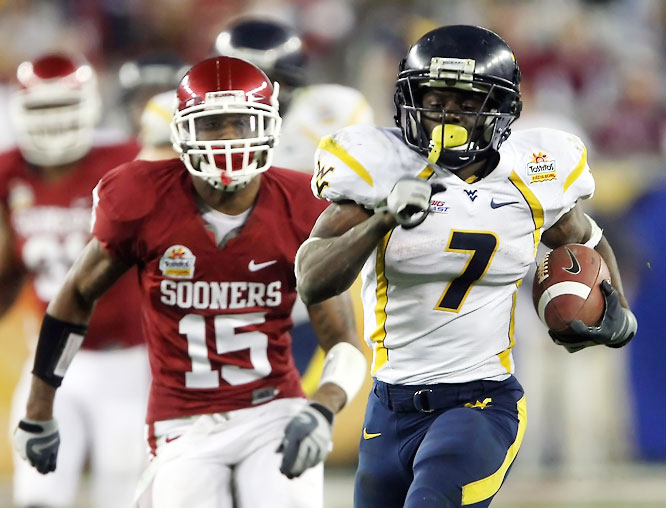 With the departure of Steve Slaton, Devine takes over as West Virginia's primary ballcarrier. He's  just 5-8, 173 pounds, but his blazing speed and elusiveness allowed him to average 8.6 yards per carry in 2007.