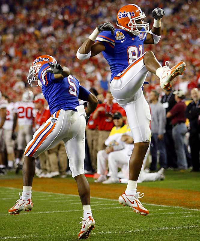 In arguably the defining power-shifting moment of the BCS era, the 12-1 Gators humiliated the 12-0, season-long No. 1 Buckeyes. The result served as a testament to the strength of the SEC while touching off widespread criticism of the Big Ten.