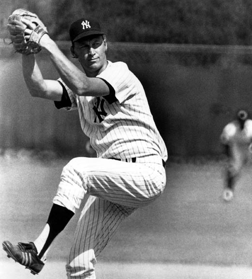 At Yankee Stadium, Mickey Mantle goes deep from each side of the plate in the same game, helping rookie pitcher Mel Stottlemyre win his big league debut.