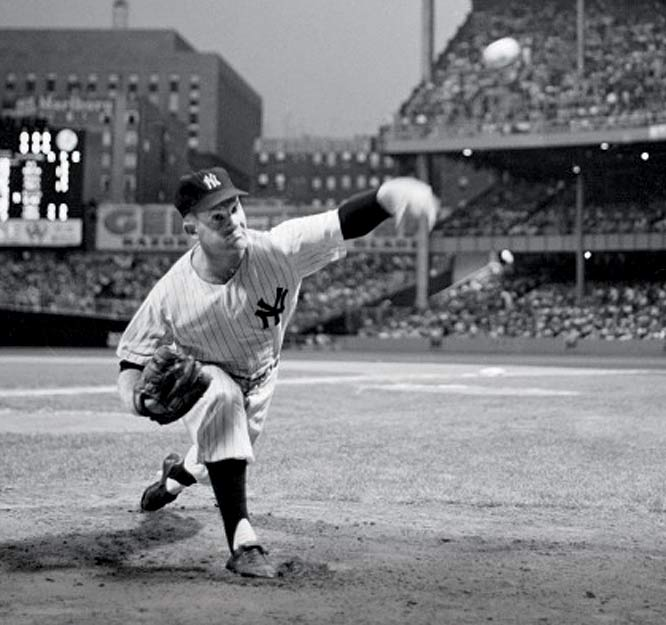 The winningest pitcher in franchise history is honored by the Yankees during Whitey Ford Day ceremonies at Yankee Stadium. The legendary southpaw holds the team record for victories (236), innings pitched (3,170), strikeouts (1,956) and shutouts (45).