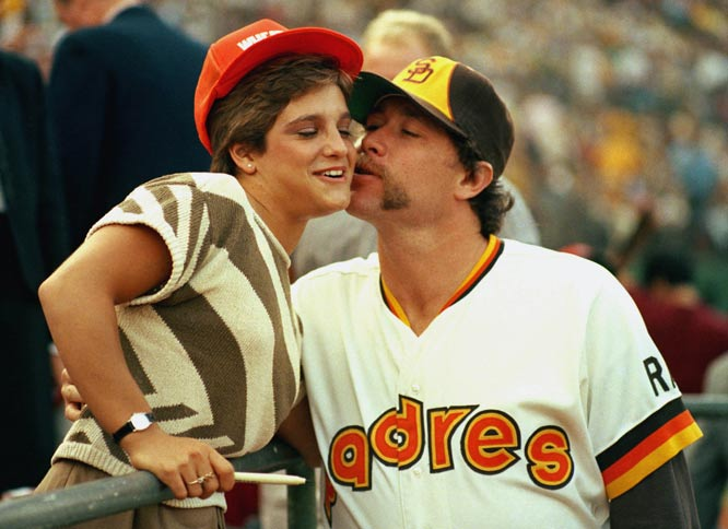 Goose Gossage (pictured here with Mary Lou Retton) collects his 300th career save.