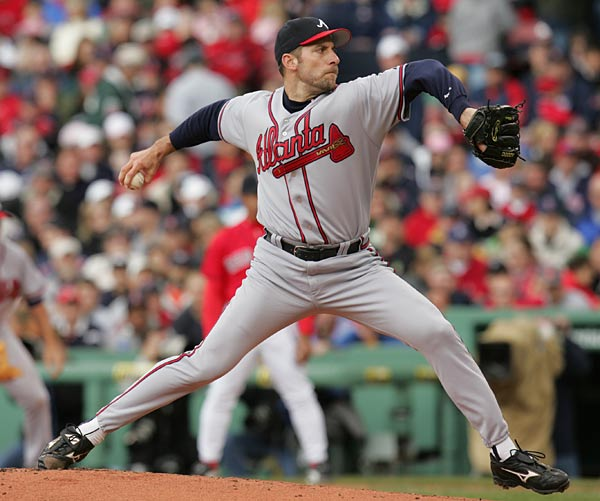 John Smoltz becomes the Braves' all-time strikeout leader as Diamondbacks' third baseman Mark Reynolds becomes the 40-year old righthander's 2,913th victim. Also on this day in 2004, Smoltz establishes a franchise record with his 142nd save in a Braves uniform.