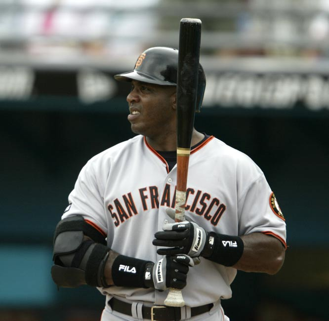 For the first time in his 16-year career, Barry Bonds hits his 50th homer of the season. The 36-year old Giants outfielder will go yard 23 more times to establish a new big league single-season record with 73 homer runs.