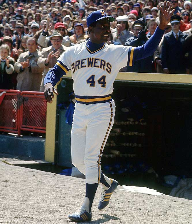 On Nov. 2, 1974, the Braves traded baseball's 40-year-old all-time home run king to the team's former home city for outfielder Dave May and a minor league pitcher. Being a full-time DH enabled Aaron to break Babe Ruth's career RBI mark (2,217) in 1975, but he hit only 234 with 12 homers. Nevertheless, he was honored with his 24th All-Star appearance, before an adoring crowd at Milwaukee County Stadium, where he would hit his 755th and final homer on July 20, 1976.