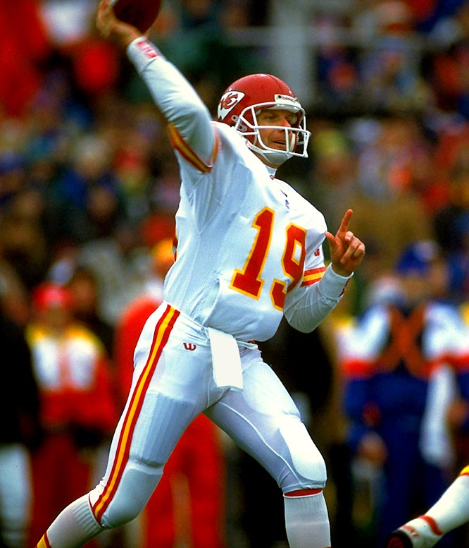 After missing the 1991 season and much of 1992 due to injury, Montana requested a trade when he found himself in danger of losing his starting job with the 49ers to Steve Young. Despite a fan uproar, Montana ended up with the Chiefs in April 1993, creating headlines and Super Bowl buzz. Given a three-year, $10 million deal, the three-time Super Bowl MVP flashed his old magic. He was a Pro Bowl pick and led the Chiefs to the AFC Championship Game, where they lost to Buffalo. In his final season, Montana beat Young and the Niners and guided the Chiefs to the `94 playoffs where they fell to Miami in the Wild Card round.