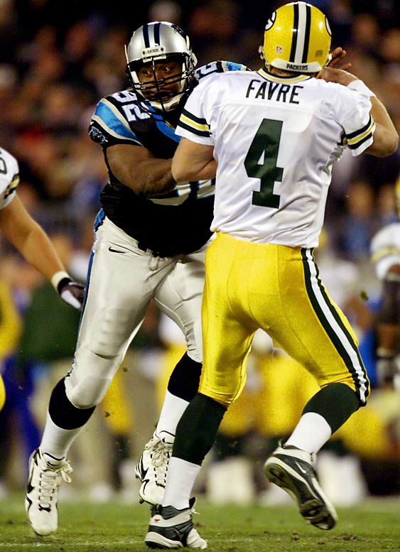 The Minister of Defense, the 1998 NFL Defensive Player of the Year and member of Green Bay's Super Bowl XXXI champions was lured out his one-year retirement by the Panthers in 2000 and started all 16 games. The Minister of Defense performed decently, if not dominantly, recording 16 tackles and six sacks for a 7-9 team. Not surprisingly, he retired again at the end of the season.
