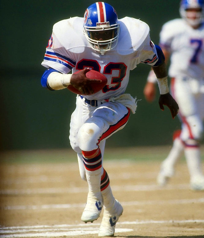 Dorsett rushed for 12,033 yards during 11 seasons with the Dallas Cowboys and was a key to their five NFC title game and two Super Bowl appearances (one a win), but his role shrank in 1987. Hoping to complement the passing of John Elway and win a Super Bowl after three futile attempts, the Broncos took a gamble by acquiring Dorsett, 34, before the 1988 season for a conditional draft pick. He led Denver in rushing with 703 yards, but the Broncos still finished 8-8 and out of the playoffs. The pounding Dorsett absorbed led to his retirement after the season.