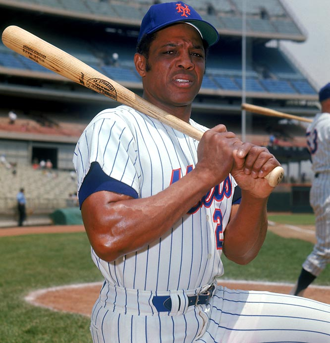 It was an emotional homecoming for the fading Say Hey Kid, 41, who was dealt to New York for pitcher Charlie Williams and $50,000 by the cash-strapped San Francisco Giants in May 1972. In his first game as a Met, Mays cracked a game-winning homer against the Giants and went on to hit .267 with eight homers and 19 RBI in 69 games. A spot player and inspirational presence, Mays' last hurrah came in the 1973 World Series, which the Mets lost to Oakland in seven games. He hit .286 in three games, but also fell in the outfield while chasing a fly ball -- a poignant reminder that he was no longer capable of feats like his dramatic over-the-shoulder catch in the 1954 Series.