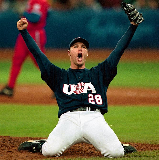 Before becoming one of the NL's best starters, Sheets made his mark with Team USA. He went 1-0 with a 0.41 ERA and beat Cuba in the gold medal game.