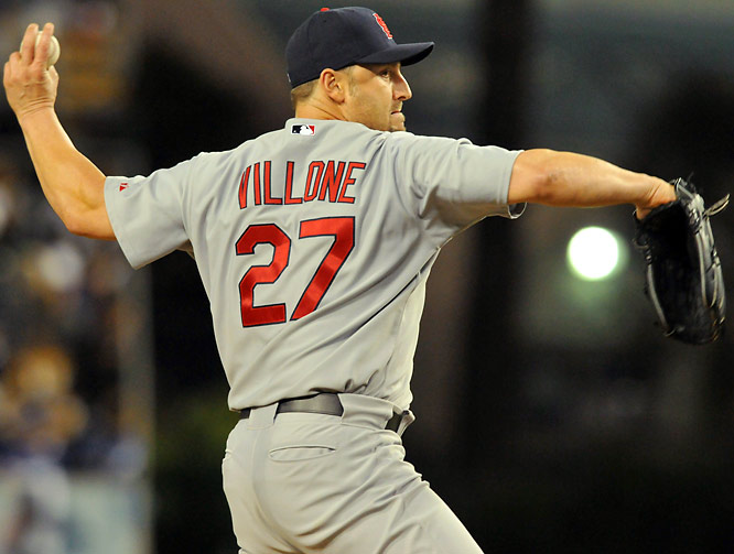 Villone eventually became a journeyman lefty whose ability to pitch out of the `pen has kept him in the majors. He struggled mightily as a starter for the '92 team, going 1-1 with a team-high 8.18 ERA and allowing 17 hits and 10 runs in 11 innings pitched.