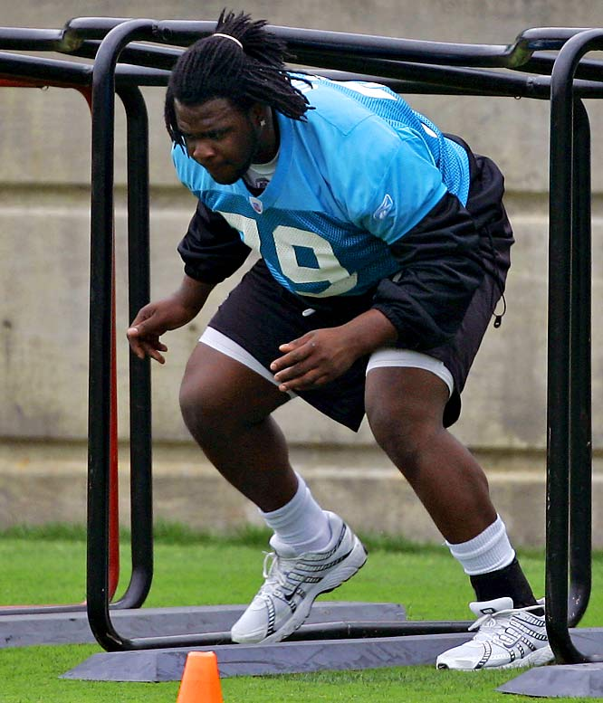 Though the first-round pick out of Pitt has been slowed by a high ankle sprain, he's expected to see a lot of action his rookie season.