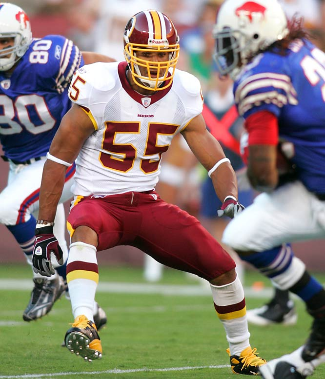 Acquiring the long-time Dolphins defensive end gives the Redskins the perfect complement to up-and-coming end Andre Carter (10.5 sacks in 2007).