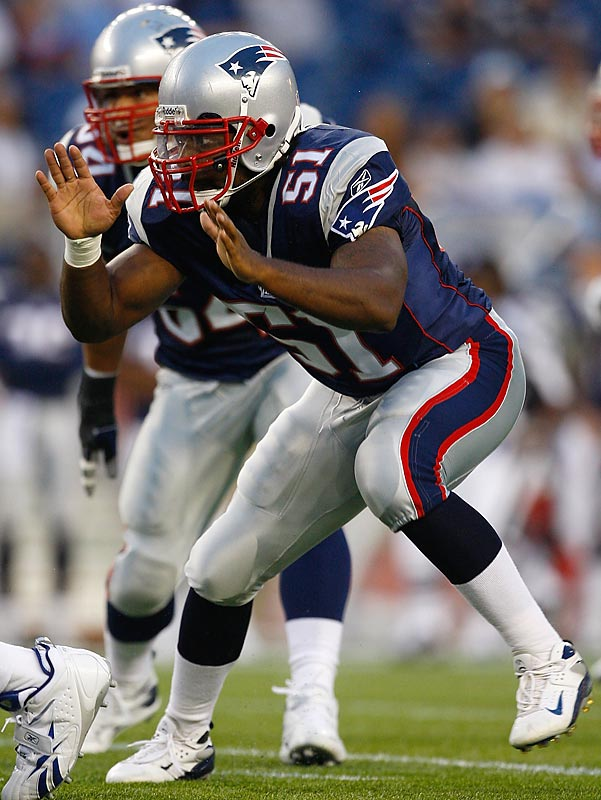 Rookies aren't usually given a chance to shine on the Patriots defense, but Mayo has proven impossible to keep off the field, averaging nearly eight tackles a game.