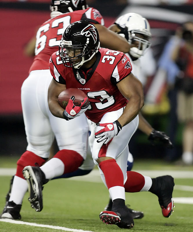 Atlanta's prized free-agent signee needed only four carries to eclipse the 100-yard mark against the Colts in Week 2.