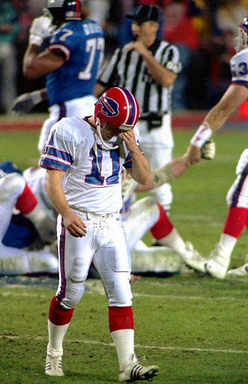 The Giants used their ball-control offense, keeping possession for 40 minutes and 30 seconds, to contain a Bills offense that had scored 95 points in its two previous playoff games. But the Bills had a chance until Scott Norwood's potential game-winning 47-yard field goal attempt went wide right, giving Buffalo its first of four straight Super Bowl losses.