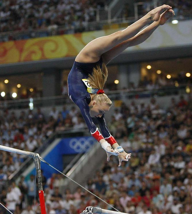 Nastia Liukin of the U.S. won silver n the uneven bars. She now has four medals, two of them silver.