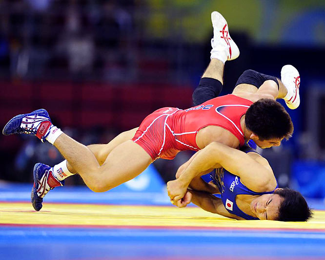 Henry Cejudo gave the U.S. its first wrestling gold medal of the Olympic Games on Tuesday with a victory over Japan's Tomohiro Matsunaga in the men's 55kg freestyle.
