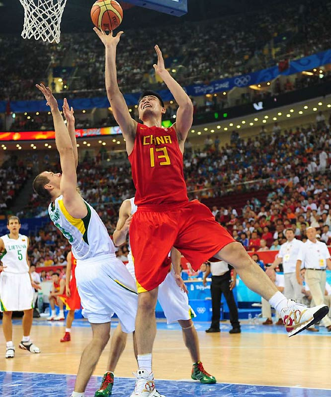 Yao Ming's and China's hopes of winning a medal were dashed as they lost to Lithuania 94-68 in the quarterfinals.