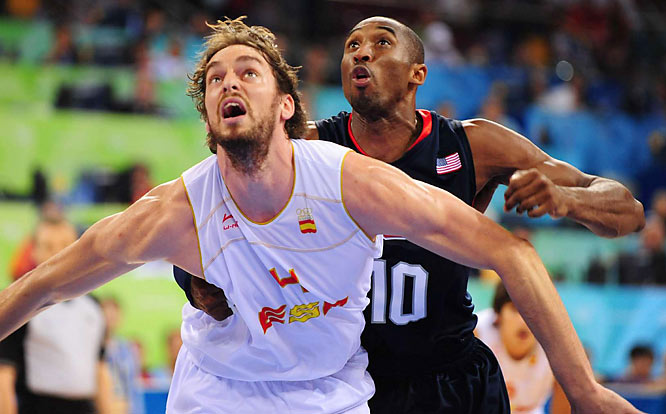 Pau Gasol and Spain were within four points with just over two minutes to go, but the U.S. pulled away and reclaimed the hoops gold medal.