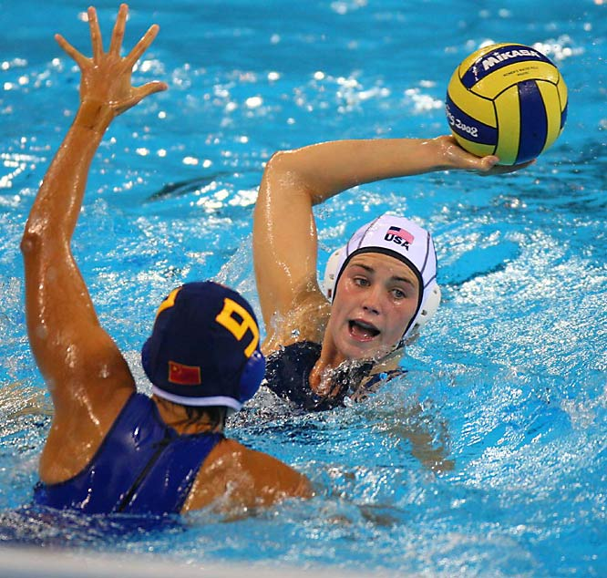 Jessica Steffens and the U.S. defeated Wang Yi and China 12-11 in a water polo showdown.