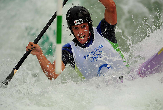 Benn Fraker of the U.S. in a heat of canoeing.