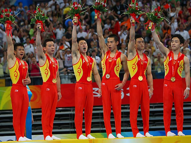 China won the gold medal in the gymnastics final.