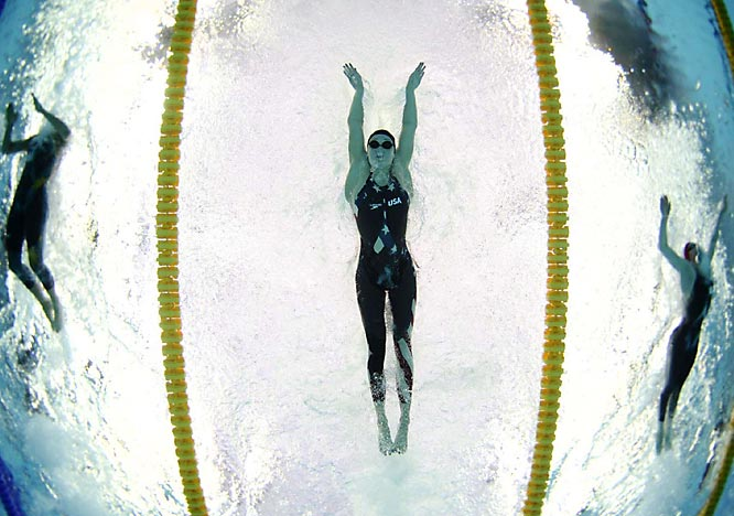 Katie Hoff during the women's 200m individual medley semis.