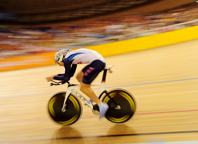 Taylor Phinney of the U.S. during qualifying for the individual pursuit.