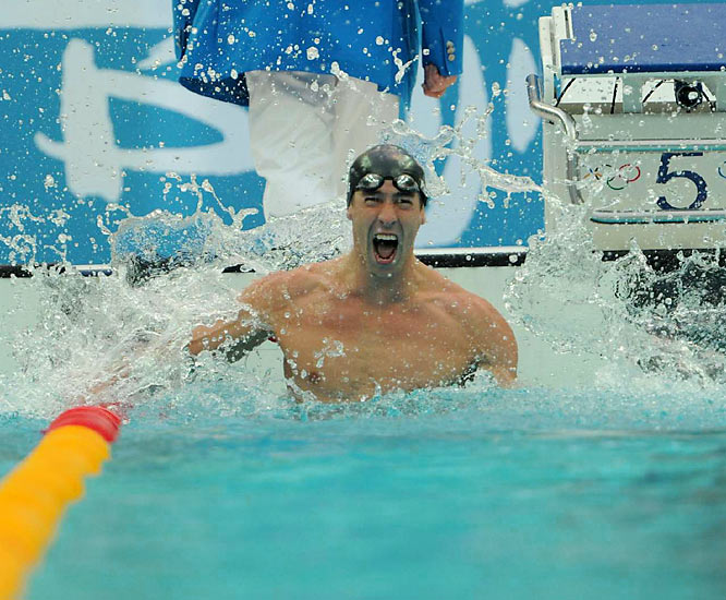 Phelps will return to the Watercube on Sunday to swim in his final event at the Beijing Games, taking the butterfly leg of the 4 x 100-meter medley relay. If the Americans are able to capture gold, Phelps will become the world record-holder for most gold medals in a single Olympics with eight.