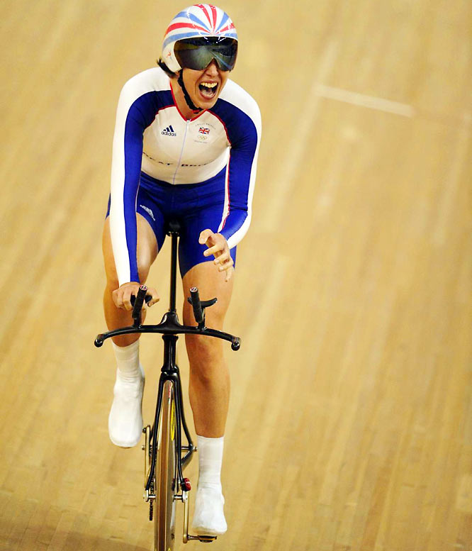 Rebecca Romero took the gold medal in the women's individual pursuit on the cycling track at the Laoshan Velodrome. Romero became the first British woman to win Olympic medals in two different sports. She won a silver medal in rowing in 2004.