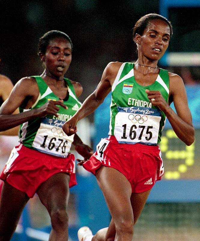 The first Ethiopian woman to win an Olympic medal, Tulu won gold in the 10,000 meters in 1992 by more than five seconds and again in 2000. She took bronze in Athens.