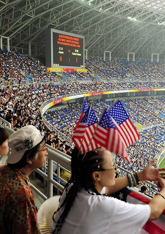 A full house saw the U.S. defeat Japan 1-0 in men's soccer.