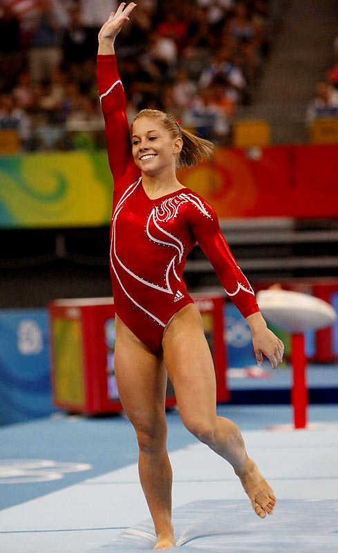 Even Shawn Johnson, the reigning world champ in the floor exercise and the reigning all-around champ, stepped out of bounds during the final rotation.