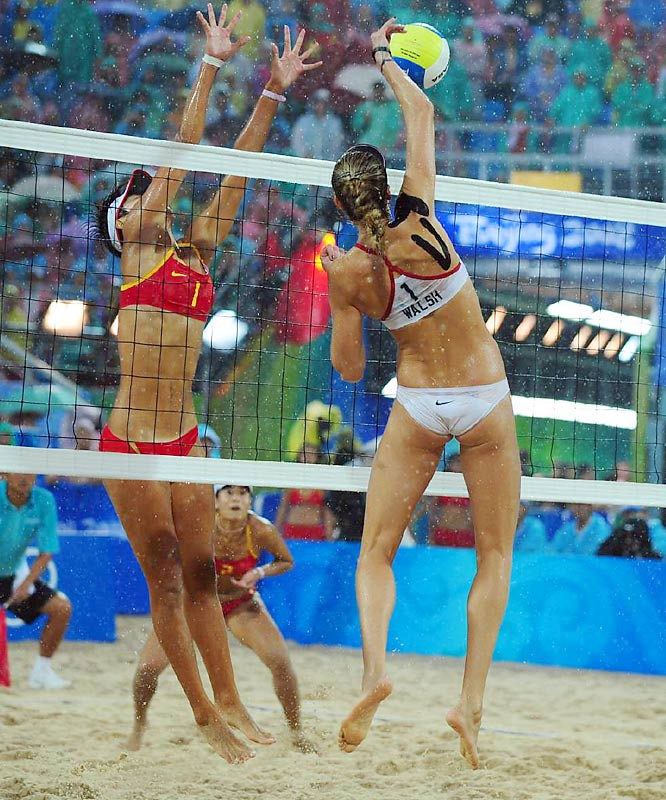 For the second consecutive Olympic Games, Kerri Walsh and Misty May-Treanor found gold in the sand as the duo teamed to win the women's beach volleyball gold medal.