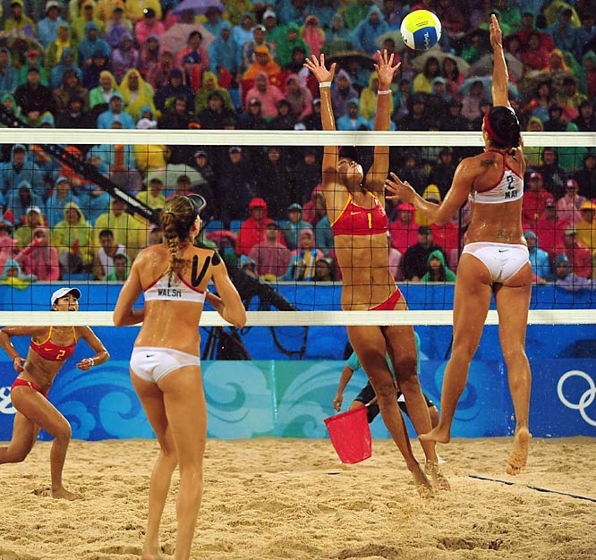 May-Treanor helped overpower the Chinese team's defensive wall.