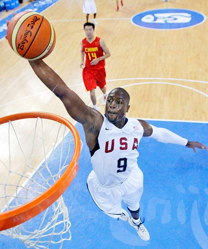 Wade was perfect in the Americans' 101-70 victory against China in the opener: 7-for-7 from the field and 5-for-5 from the foul line, for 19 points in only 20 minutes off the bench.