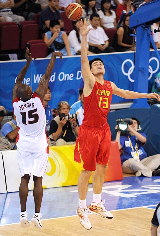 Yao helped set up the Chinese to advance out of pool play by dominating Angola with 30 points, seven rebounds, four blocks and three assists in 31 minutes. The Houston Rockets' center shot 10-for-11 from the field and 10-for-11 from the foul line in the 85-68 win.