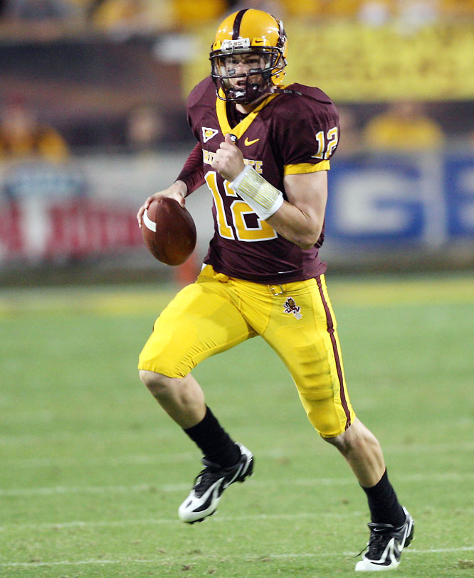 Carpenter has started 31 straight games for Arizona State, racking up nearly 8,000 passing yards and 65 touchdown passes. He threw at least one touchdown pass in every game last season.