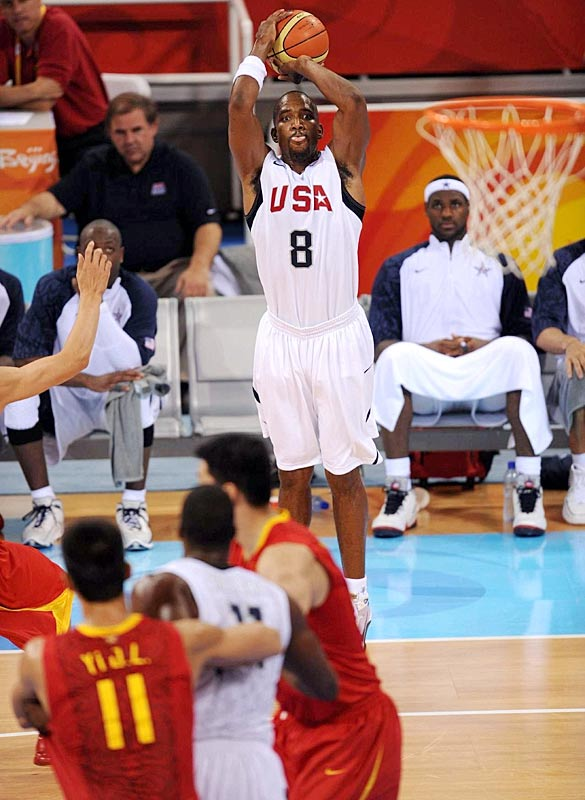 GAME 1 (China): Scored all of his points (on three three-pointers) late in the game.<br><br>GAME 2 (Angola): Missed both three-point attempts. The Americans made only 5-of-21 as a team.<br><br>GAME 3 (Greece): Played only six minutes -- his deep shooting wasn't needed.<br><br>GAME 4 (Spain): Played mostly in garbage time, scoring 4 points in 12 minutes.<br><br>GAME 5 (Germany): His 1-of-9 shooting (0-of-4) from long range a rare lowlight in blowout.<br><br>GAME 6 (Australia): Made one of Team USA's 12 three-pointers.<br><br>GAME 7 (Argentina): No shot attempts in 6 minutes.<br><br>GAME 8 (Spain): DNP until final 26 seconds.